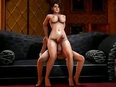 Porno masāža mīloša meitene izglābj savu draugu no atskaitījumi no universitātes
